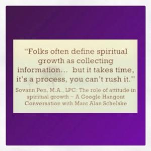 Sovann Pe on spiritual growth