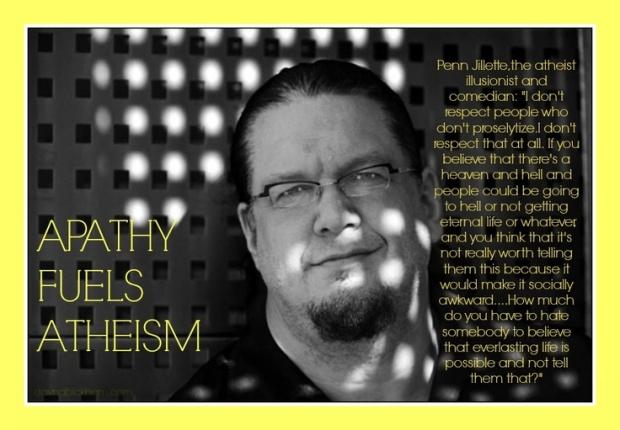 Apathy Fuels Athiesm